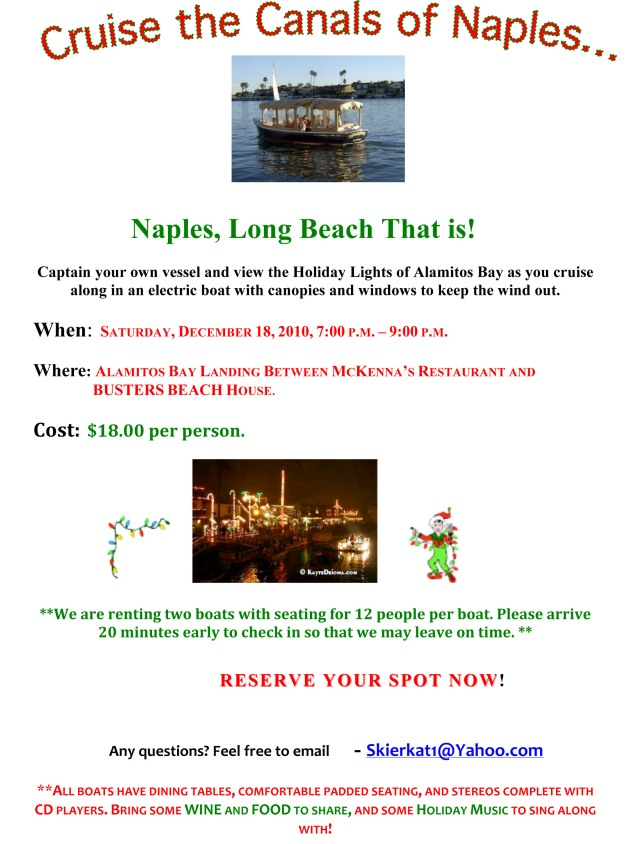 Holiday Cruise on Naples Canal