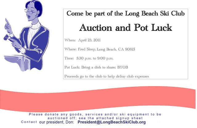 Auction and Potluck