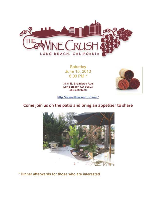 Wine Crush june 15 Flyer